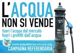 Campagna per i SI ai referendum sull'acqua pubblica
