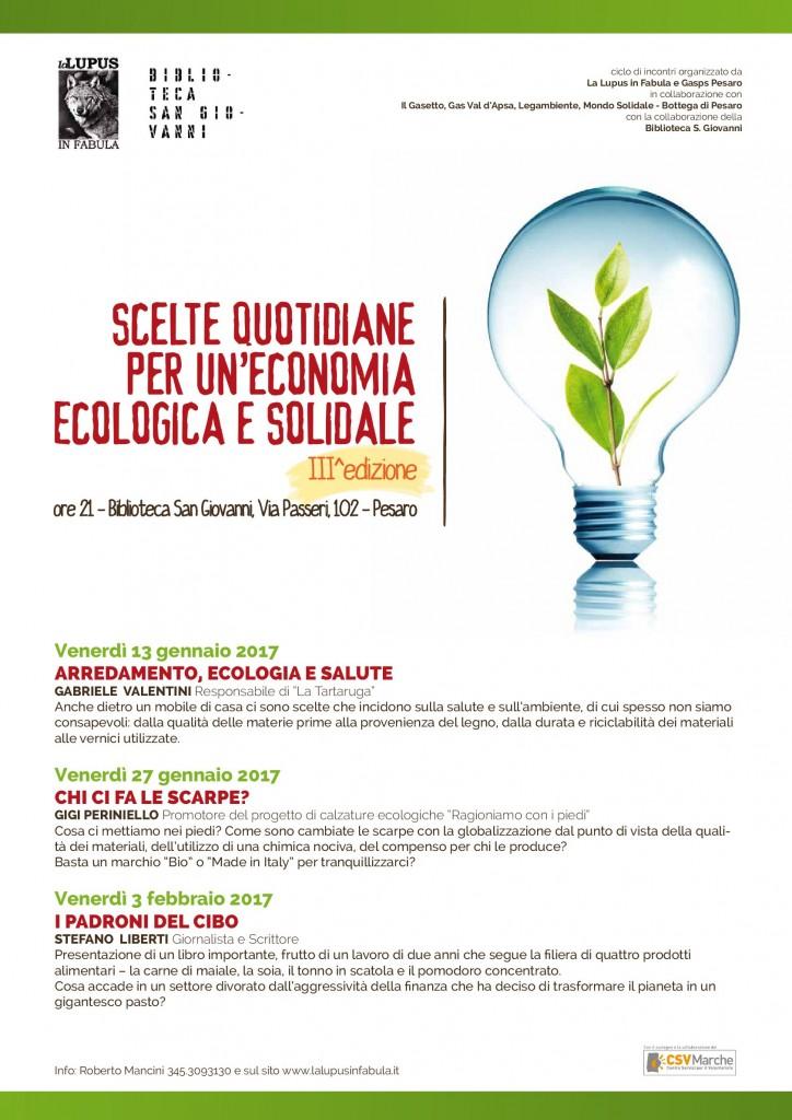 Scelte quotidiane per un'economia ecologica e solidale – 3° edizione