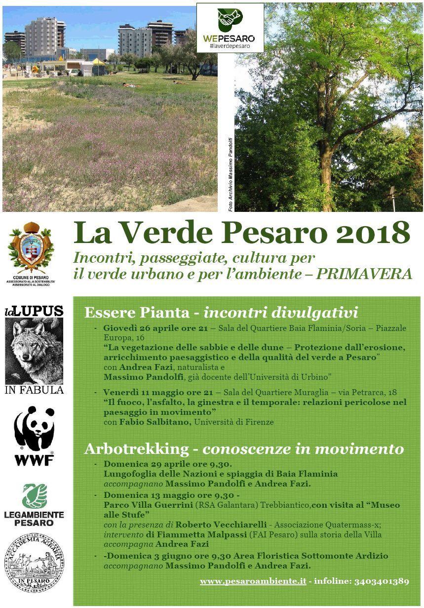La Verde Pesaro : Incontri, passeggiate, cultura per l'ambiente