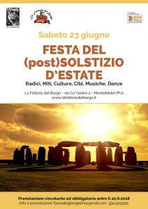 FESTA DEL  (post)SOLSTIZIO D'ESTATE