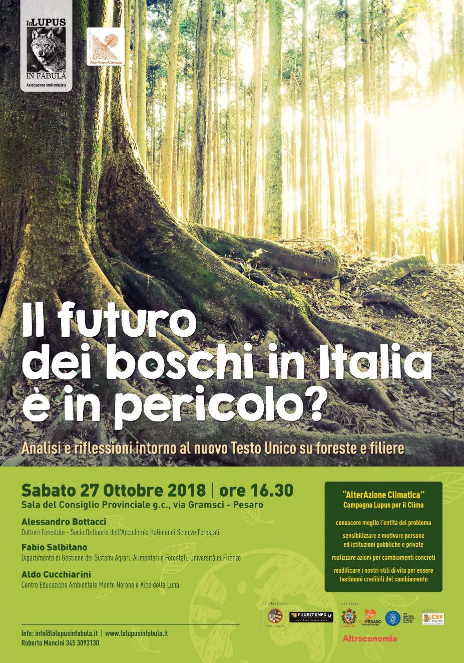 """Convegno – """"Il futuro dei boschi in Italia è in pericolo?"""""""