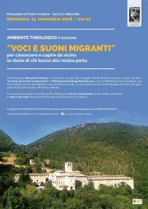 """IV APPUNTAMENTO DI """"AMBIENTE THEOLOGICO"""" – Voci e suoni migranti"""