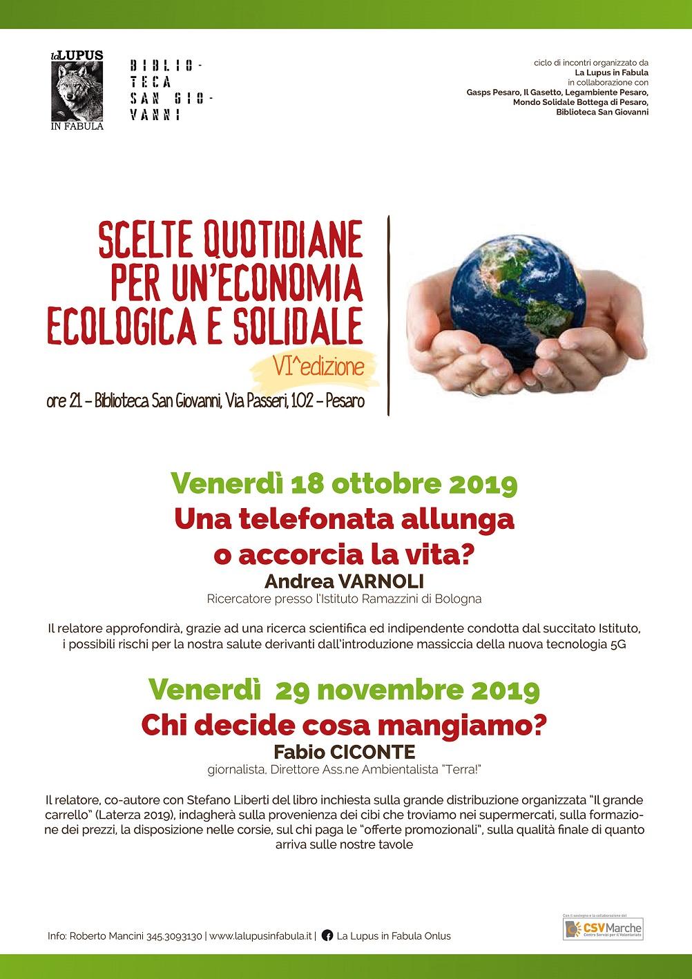 Scelte quotidiane per un'economia ecologica e solidale – VI edizione