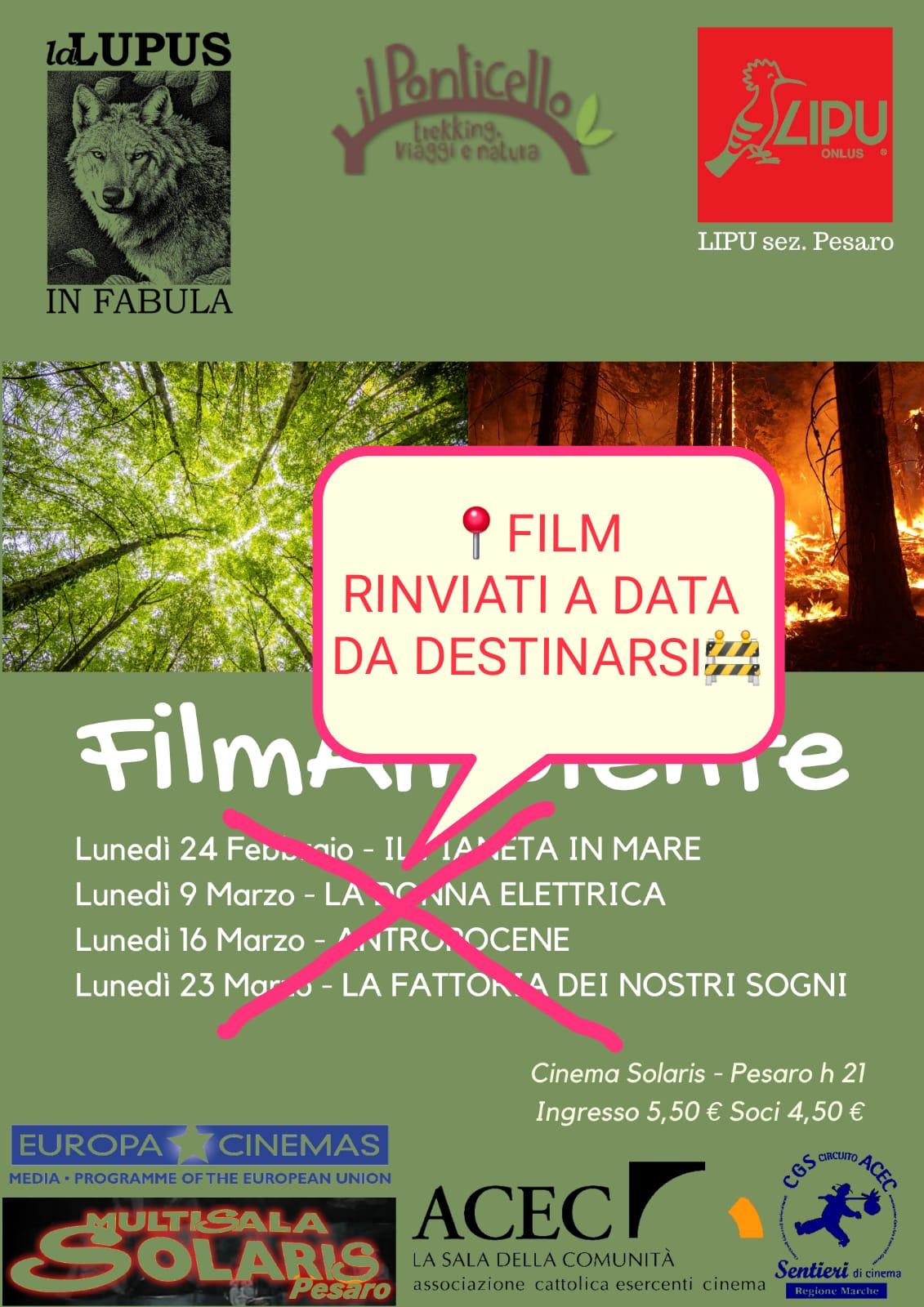 FilmAmbiente edizione 2020