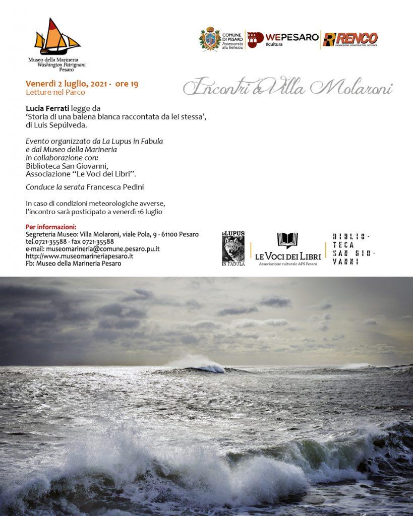 Lettura con Lucia Ferrati al Parco Molaroni