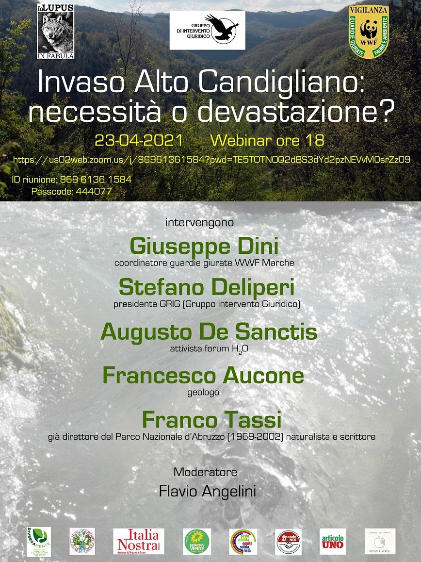 Webinar – Invaso Alto Candigliano: necessità o devastazione?